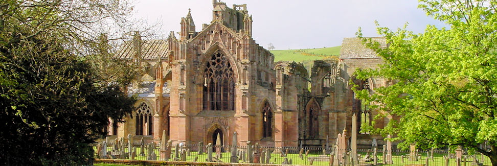 Melrose Abbey, Frontalansicht
