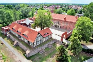 Burg Storkow aus der Luft