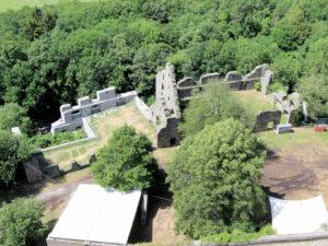 Festung Hohentwiel, Blick auf die untere Festung