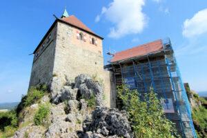 Burg Hohenstein in Mittelfranken, Südseite des Palas