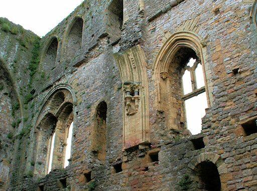 Detailansicht Palas, Chepstow Castle, Wales / Great Britain