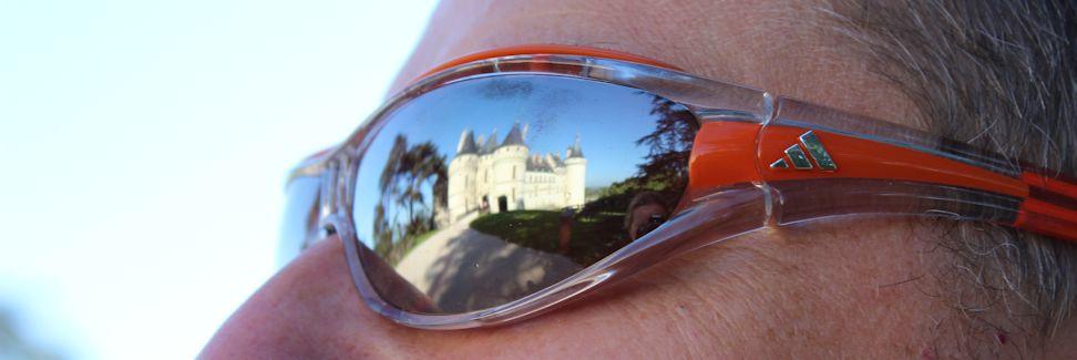 Loirereise 2013 - Château Chaumont spiegelt sich in meiner Sonnenbrille