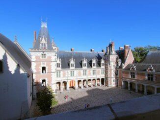 Blois, der Innenhof von oben