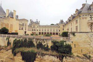 Schloss de Brézé, Loire - Ansicht des Innenhofs
