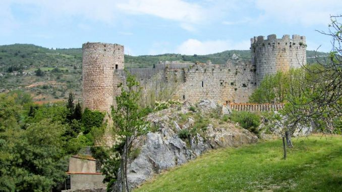 Château de Villerouge-Termenès, Seitenansicht