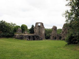 Narberth Castle, Wales - Kasematten