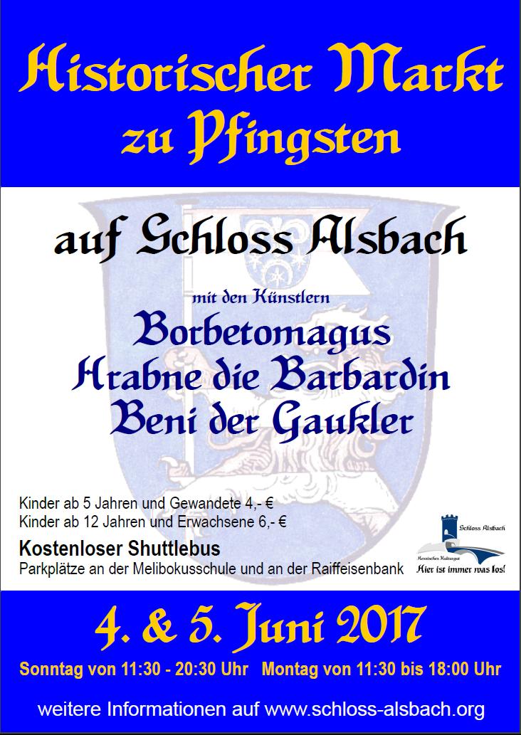 Plakat_Historischer_Pfingstmarkt_ Schloss_Alsbach