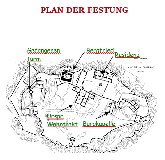 Plan der Festung Polignac