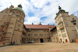 Innenhof von Schloss Guestrow in Mecklenburg-Vorpommern