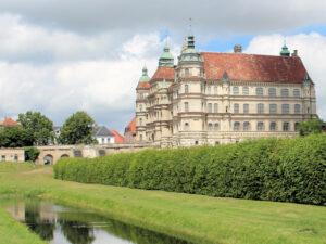 Seitenansicht von Schloss Guestrow in Mecklenburg-Vorpommern