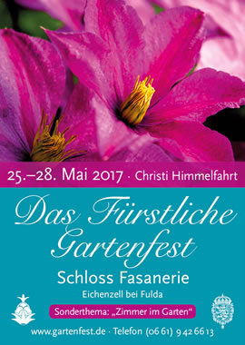 gartenfestival das f rstliche gartenfest schloss fasanerie 2017. Black Bedroom Furniture Sets. Home Design Ideas
