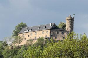 Burg Greifenstein in Thüringen, Detailansicht Südseite