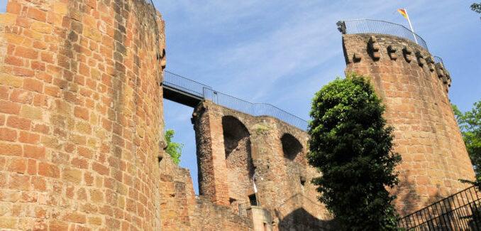 Burg Montclair im Saarland (Deutschland)
