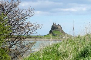 Lindisfarne Castle, Northumberland - across the sound.