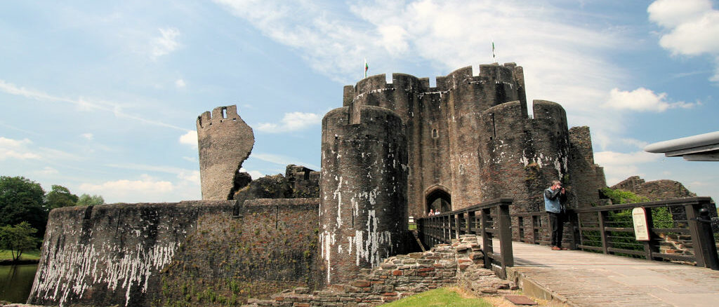 Caerphilly Castle, Wales / Great Britain