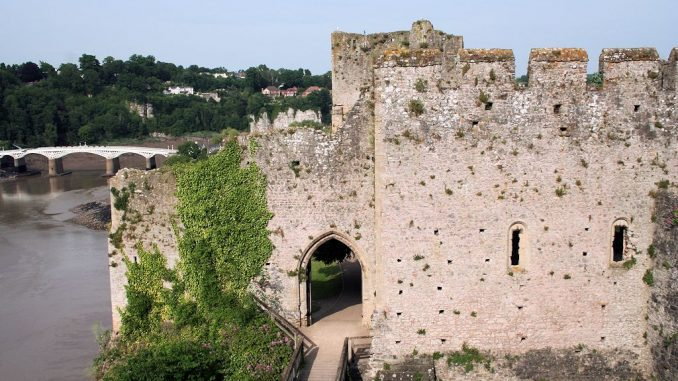 Innenansicht Chepstow Castle, Wales / Great Britain