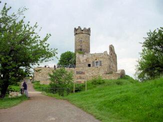 Mühburg, Thüringen - Eingang und Bergfried