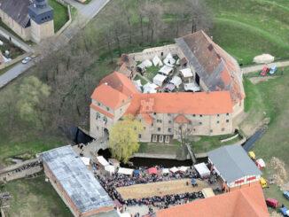 Ordensburg Liebstedt, Thüringen - Luftbild