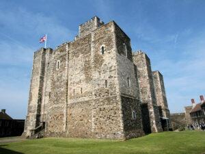 Dover Castle, Seitenansicht des Donjon