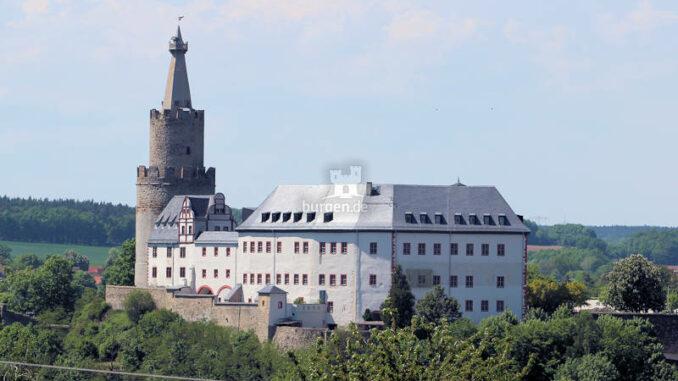 Osterburg in Weida, Thüringen - Gesamtansicht