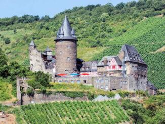 Burg Stahleck (Rheinland-Pfalz) - mit Weinberg