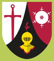 """Wappen Ritterorden Falkenfels - der Sommerspass von """"Gastlandschaften Rheinland-Pfalz"""""""