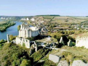 Luftbild Chateau Gaillardder Festung von Richard Löwenherz © ZDF / Guillaume Taverne