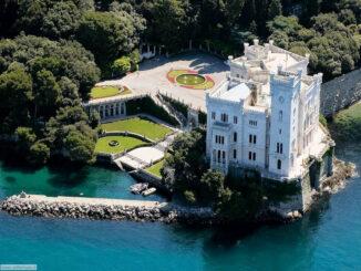 Blick aus der Luft © Castello di Miramare