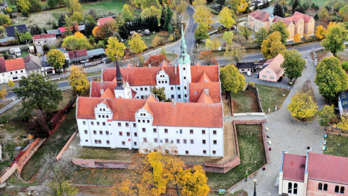 Schloss-Doberlug_Luftbild