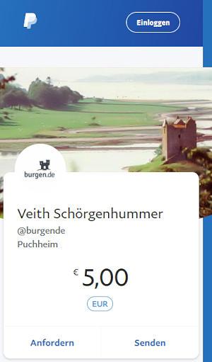 Spendenbutton burgen.de über Paypal